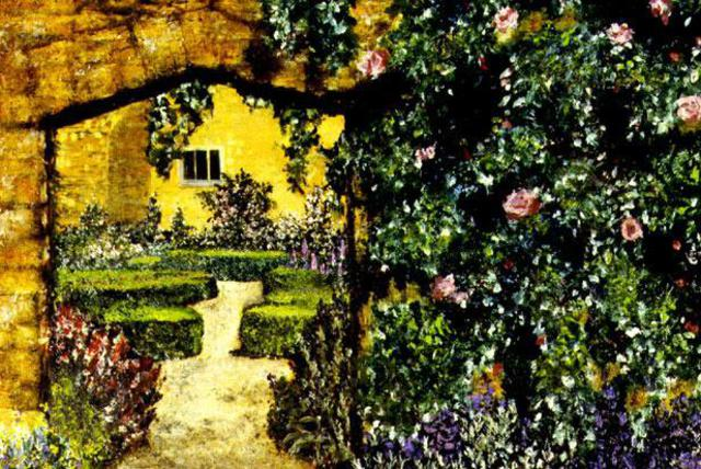 Storm Hammond  'Garden Entrance', created in 2002, Original Painting Oil.
