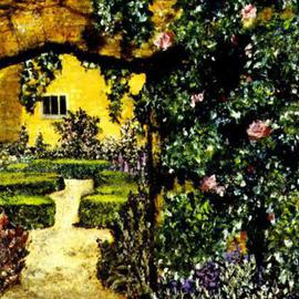 Storm Hammond Artwork Garden Entrance, 2002 Oil Painting, Landscape