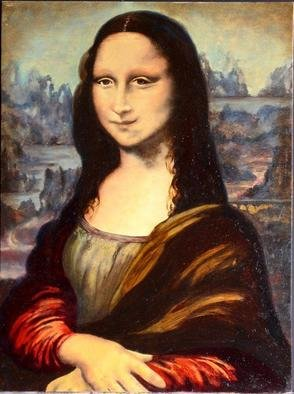 Culture Oil Painting by Storm Hammond Title: Mona Lisa Study, created in 2005