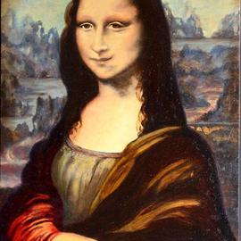 Storm Hammond: 'Mona Lisa Study', 2005 Oil Painting, Culture.