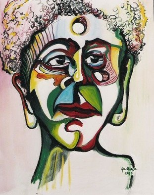 Gil Garcia: 'lucricia', 1998 Oil Painting, Indiginous. Portrait, of Lucrecia an African Queen...
