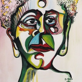Gil Garcia: 'lucricia', 1998 Oil Painting, Indiginous. Artist Description: Portrait, of Lucrecia an African Queen...