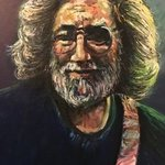 portrait of jerry garcia By Gil Garcia