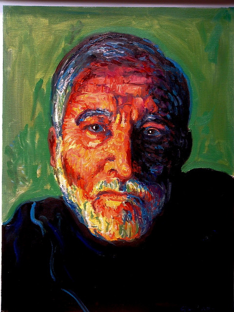 Gil Garcia  'Self Portrait', created in 2006, Original Painting Oil.