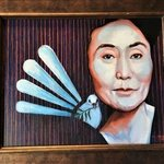 yoko ono and the peace dove By Gil Garcia