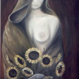 Claudia Perez: 'AUTUM MISTRESS', 2000 Oil Painting, Nudes.