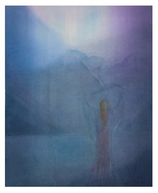 Ana Maria Studart: 'the reverence', 2018 Watercolor, Abstract Landscape. Artist Description: Watercolor painting, veiled technique with 85 layers of paint. The Reverence is a painting inspired by the Indigo atmosphere. ...