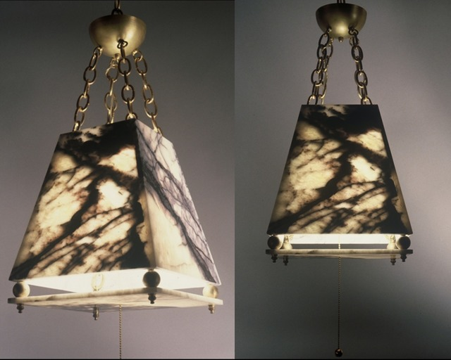 Jon-Joseph Russo  'Marble Hanging Lamp', created in 2020, Original Sculpture Sandstone.