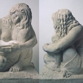 Jon-joseph Russo: 'waterbearer', 2020 Stone Sculpture, Figurative. Artist Description: Waterbearer in Limestone - is a sculpture with fountain features, ideal for pool or garden.  The vessel can be cast with tubing ejecting water. ...