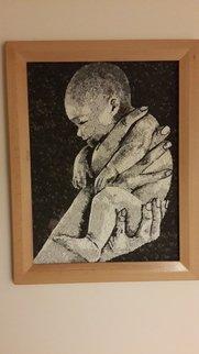 Suat Dursun Artwork mosaic of o baby, 2013 Mosaic, Children
