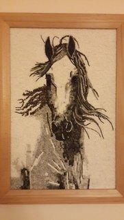 Suat Dursun Artwork mosaic reproduction of  horse, 2013 Mosaic, Animals