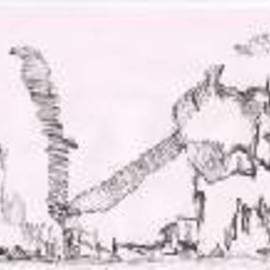 Subhadeep Bandyopadhyay Artwork FALLEN DOME MISSING TIGER, 2009 Pen Drawing, Conceptual