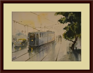 Artist: Subhradeep Das - Title: Tram - Medium: Watercolor - Year: 2013