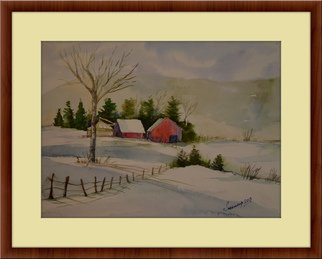 Artist: Subhradeep Das - Title: Winter - Medium: Watercolor - Year: 2013