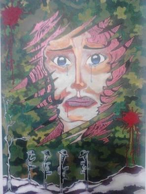 Artist: Subhojit Dey - Title: I wanna lIve - Medium: Oil Painting - Year: 2014