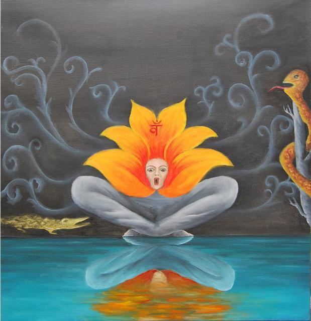 Krishnaraju Subramaniam  'Swadishtana Chakra', created in 2010, Original Painting Oil.