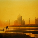 camel with taj By Sudipta Karmakar