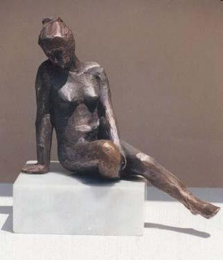 Bronze Sculpture by Sue Jacobsen titled: An Idle Moment, created in 2004