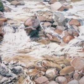 Boulder Creek painting By Sue Jacobsen