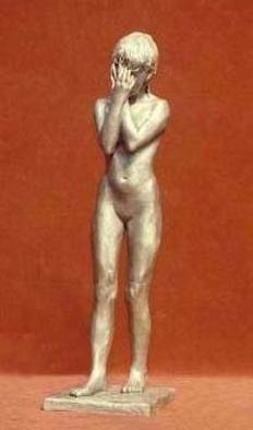 Sue Jacobsen: 'Eve', 2003 Bronze Sculpture, Figurative. I was moved by this casual pose my youthful model struck, evoking many emotional possibilities. ...