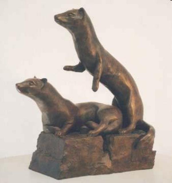 sue jacobsen artwork ferret family on full alert original