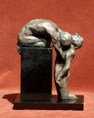Bronze Sculpture by Sue Jacobsen titled: Mourning, created in 2005