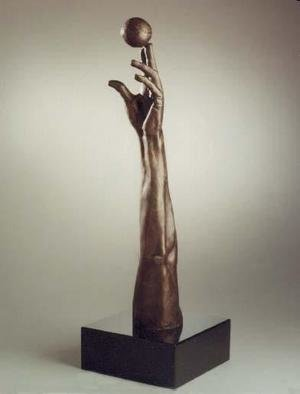 Bronze Sculpture by Sue Jacobsen titled: Set Point, created in 2004