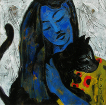 - artwork Girl_with_black_car-1320911289.jpg - 2009, Painting Acrylic, Figurative