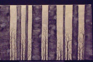 Trees Oil Painting by Janice Young Title: Inspration from Black Birch, created in 2008