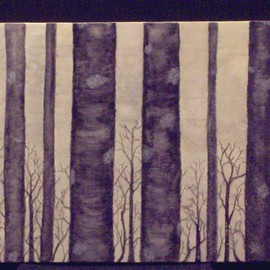 Janice Young Artwork Inspration from Black Birch, 2008 Oil Painting, Trees