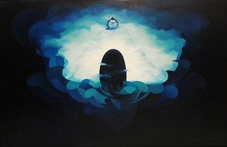 Sunando Basu Artwork Abirbhav, 2013 Oil Painting, Spiritual