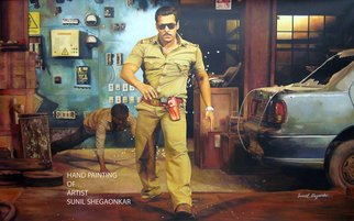 Sunil Shegaonkar Artwork ACTOR SALMAN KHAN DABANG, 2016 Acrylic Painting, People