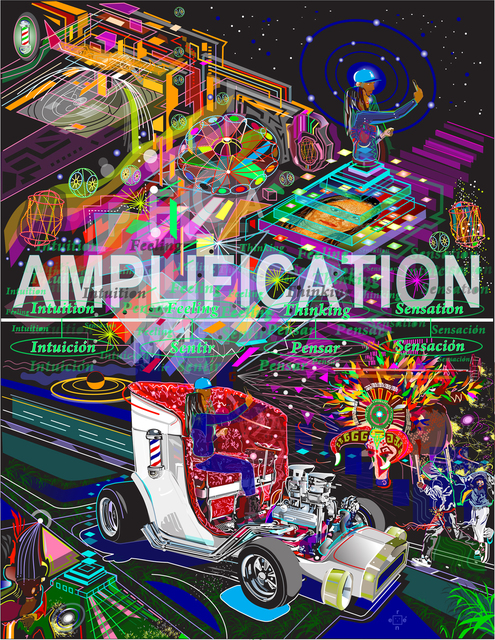 Rene Trujillo  'Amplificar', created in 2018, Original Computer Art.