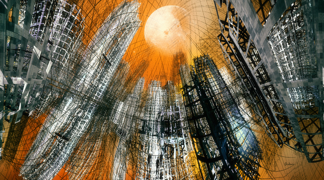 Vladimir Desancic  'Down City', created in 2019, Original Digital Art.
