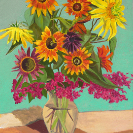 Fred Paddock Artwork Eclipse, 2006 Acrylic Painting, Floral