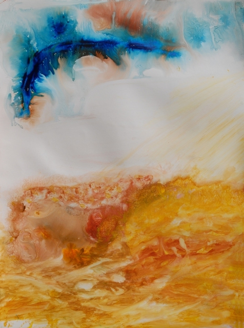SUSANA ELINBAUM  'ENTRE EL CIELO Y LA TIERRA', created in 2009, Original Mixed Media.