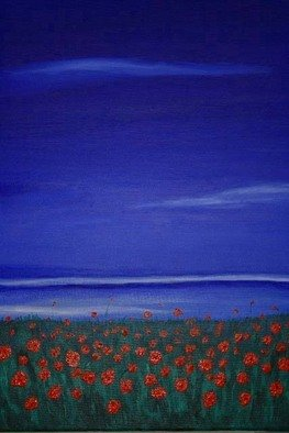 Landscape Acrylic Painting by Susan Barnett-jamieson Title: Poppies, created in 2008