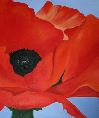 Artist: Susan Barnett-jamieson - Title: Red Poppy - Medium: Acrylic Painting - Year: 2012