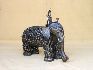 Mythology Mixed Media Sculpture by Sakhuja Sushil Title: Indian god of love Kaamdeva, created in 2008