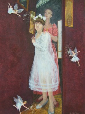Suzan Fox: 'Beguiled Ballerina', 2007 Tempera Painting, Fantasy. Artist Description:  Painted in Egg Tempera ...