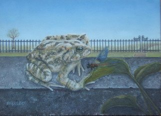 Suzan Fox: 'Damsel in Distress', 2007 Tempera Painting, nature. Artist Description:  Painted in Egg Tempera ...