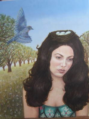 Suzan Fox: 'Inspiration', 2007 Tempera Painting, Surrealism. Artist Description:   Painted in Egg Tempera  ...