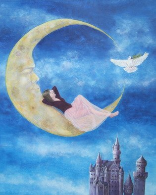 Suzan Fox Artwork Only In Our Dreams, 2008 Tempera Painting, Magical