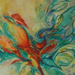 , Avian Cacophony, Abstract, Request Price