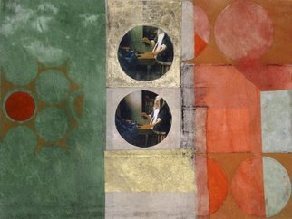 Suzanne Benton: 'Balance', 2013 Monoprint, History. Artist Description:  Balance monoprint with Chine collA(c)           ...