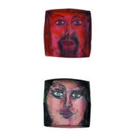 Suzanne Benton: 'Ireland Portrait Boxes  inside', 2004 Other Sculpture, History. Artist Description:    mixed media, faces, portraits, multilayers, multicultural Locked until the year 2000, never opened, collage       ...