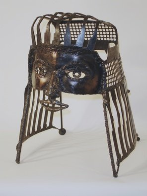 Suzanne Benton: 'Rachel, copper coated steel mask', 1989 Mixed Media Sculpture, undecided. Artist Description:  Metal mask, steel, copper coat           ...