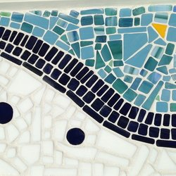 , Abstract Glass Mosaic Tra, Abstract, $105