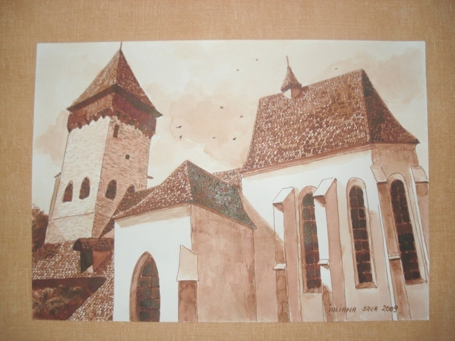Iuliana Sava  'Old Fortress Of Atel Romania', created in 2009, Original Painting Oil.