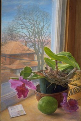 Sofia Wyshkind: 'Chronology of Nostalgia The Orchid', 1998 Oil Painting, Botanical. Artist Description:  The plant    ...